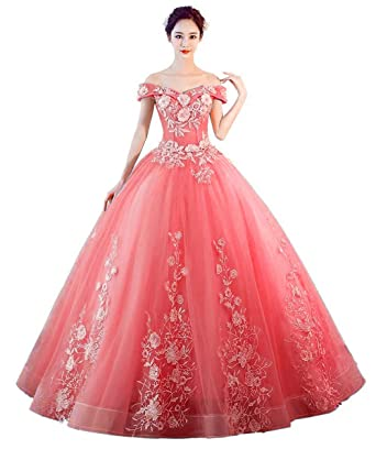 LEJY Women\'s Off The Shoulder Quinceanera Dresses Applique ...
