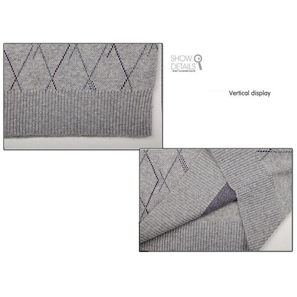 Lisianthuas Mens' Argyle V-Neck Sweater Vest Color Dark Grey Size M by Lisianthus (Image #4)