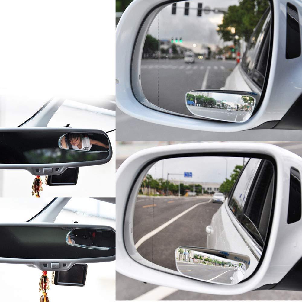 Uwood Autospiegel, Tote Winkel, Weitwinkel, verstellbarer Auto-Rü ckspiegel, Aufkleber-Design, passend fü r alle Universal-Fahrzeuge (2 Stü ck)