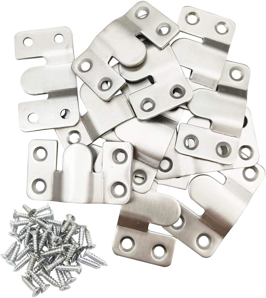 """Sipery 12Pcs Universal Sectional Sofa Interlocking Furniture Connector, Stainless Steel Sectional Sofa Connector Brackets 2.1"""" Length"""