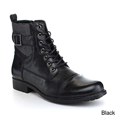 Arider Bull-3 Mens High-Top Lace Up Side Zipper Ankle Booties Casual Shoes
