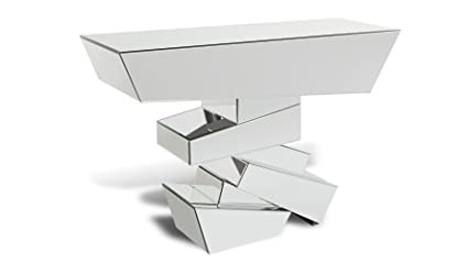 Genial Zuri Furniture Naxos Glass Mirrored Console Table