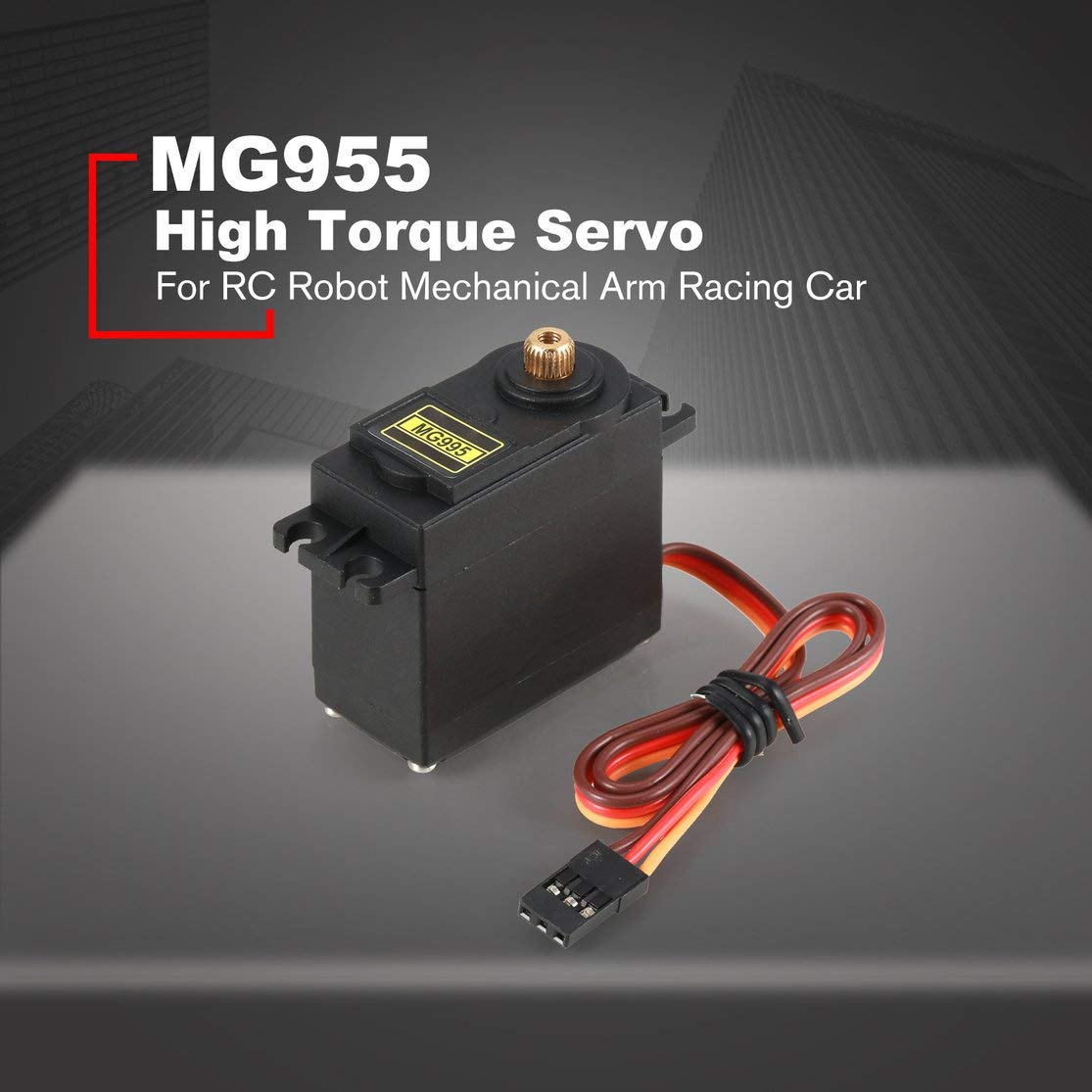 LouiseEvel215 Servo analogique Metal Gear Servo 55g Haute Vitesse Couple Digital Servo Moteur pour h/élicopt/ère de Voiture RC Robot Angle de contr/ôle 180
