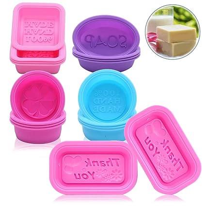 Moldes de silicona para jabón, 18 unidades, hechos a mano, forma ovalada,