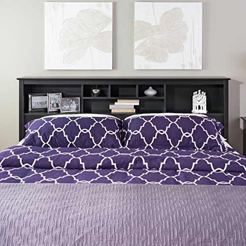 prepac sonoma black king storage headboard