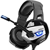 ONIKUMA Gaming Headset for PS4, Xbox One, PC, Nintendo Switch, Stereo Surround Gaming Headphones 3rd Generation Ergonomic Design, Soft Memory Earmuffs, Noise-Cancelling, Microphone & USB LED Light