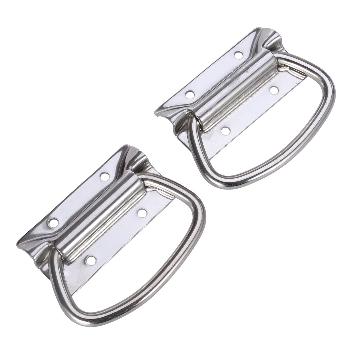 UEETEK 2pcs Stainless Steel Pull Handles Heavy Duty Sturdy Chest Handles for Toolbox Door