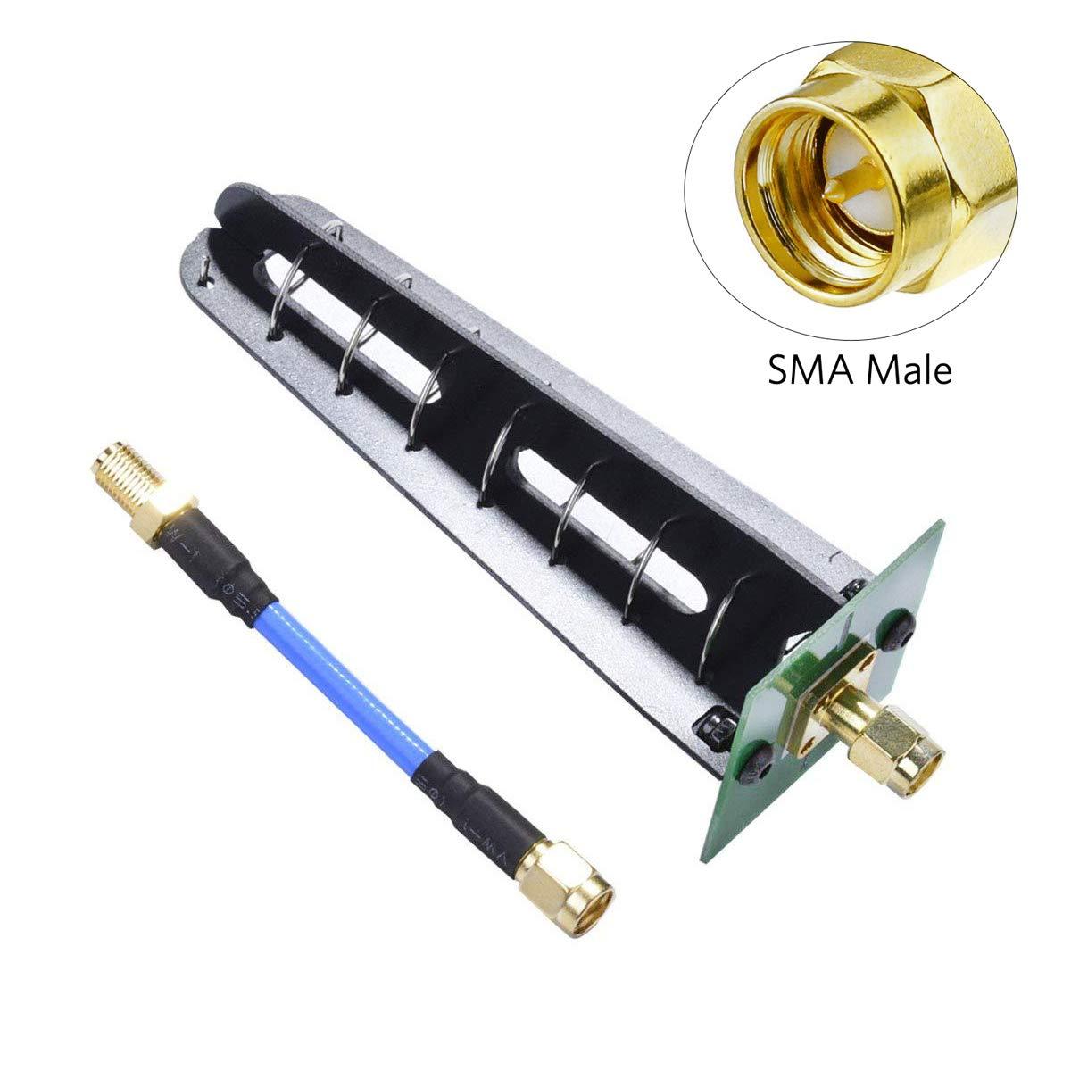 Crazepony FPV Antena 5.8G 11dbi SMA Macho Circular RHCP Polarización Aomway Helicoidal VTX Drone Antena con SMA Macho a