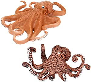 2 Pack Dutch Kraken Aquarium Decor, The Mysterious Legend Octopus Figure Aquarium Ornament Fish Tank Landscape Artificial Sea Life Replica Decoration Accessories