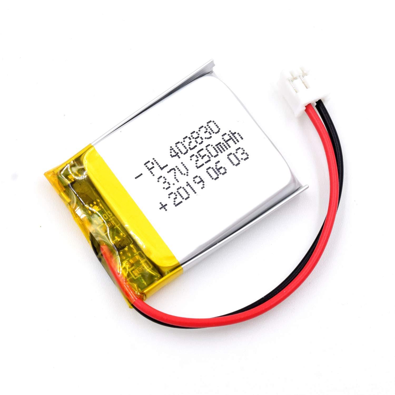 Bateria Lipo 3.7V 250mAh 402830 Recargable JST Conector