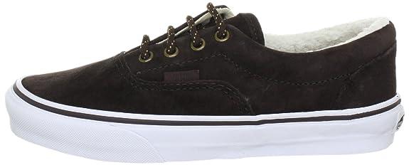 Vans Era VQFK76A - Zapatillas de deporte de cuero unisex, color marrón, talla 36