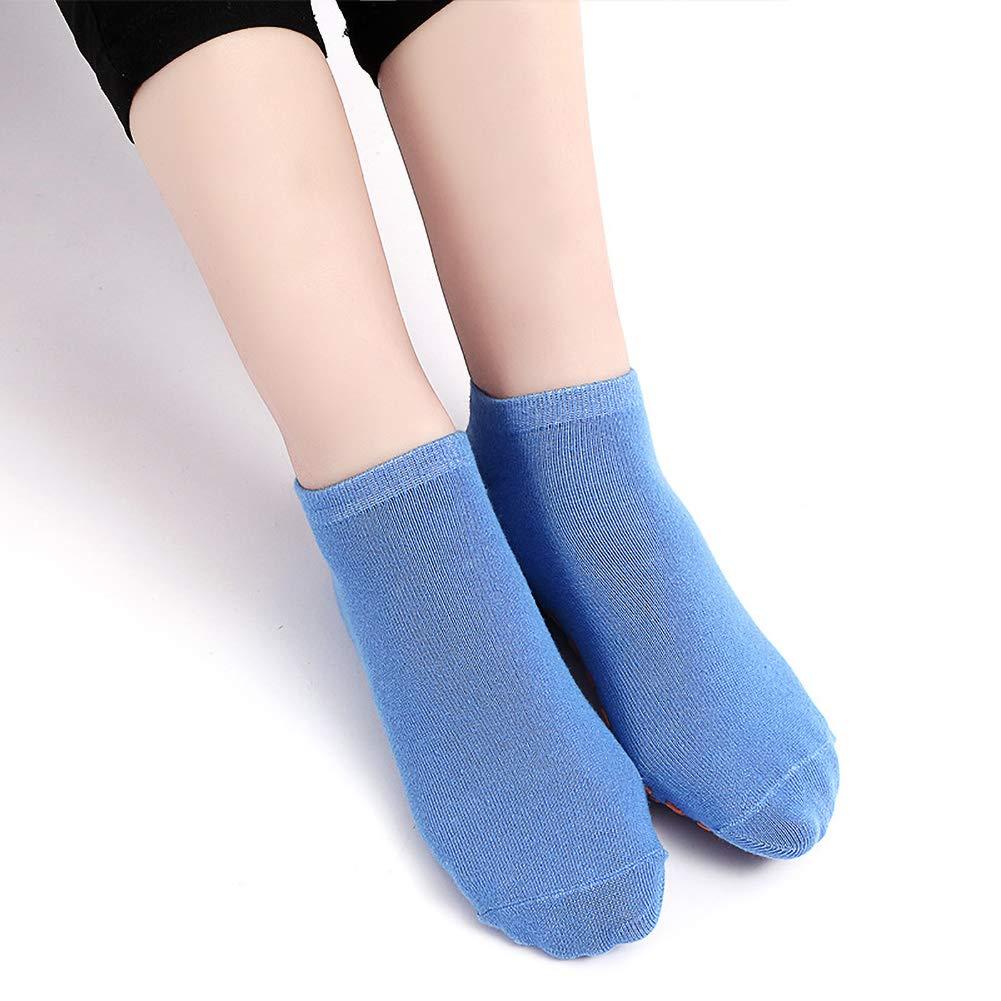 Zonfer 5 paia Grip Cotton Socks universale antiscivolo danza Calze Yoga calzini del pavimento per le ragazze o ragazzi