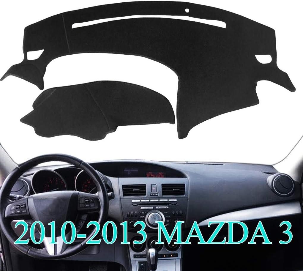 AKMOTOR Dash Cover Dashboard Cover Pad Mat Custom Fit for Mazda3 Mazda 3 2010 2011 2012 2013 (Black) Y47