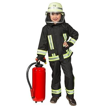Disfraz infantil de bombero, uniforme de bombero