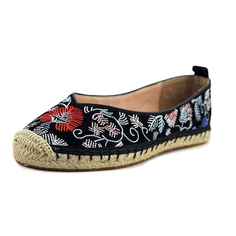 Avec Les Filles Womens Gisella Closed Toe Espadrille Flats B0713TVF18 5.5 M US|Black/Floral
