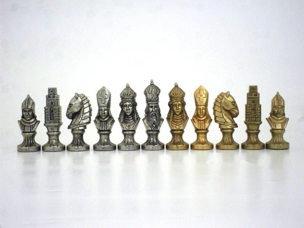 Schachfiguren Büsten im Mittelalter