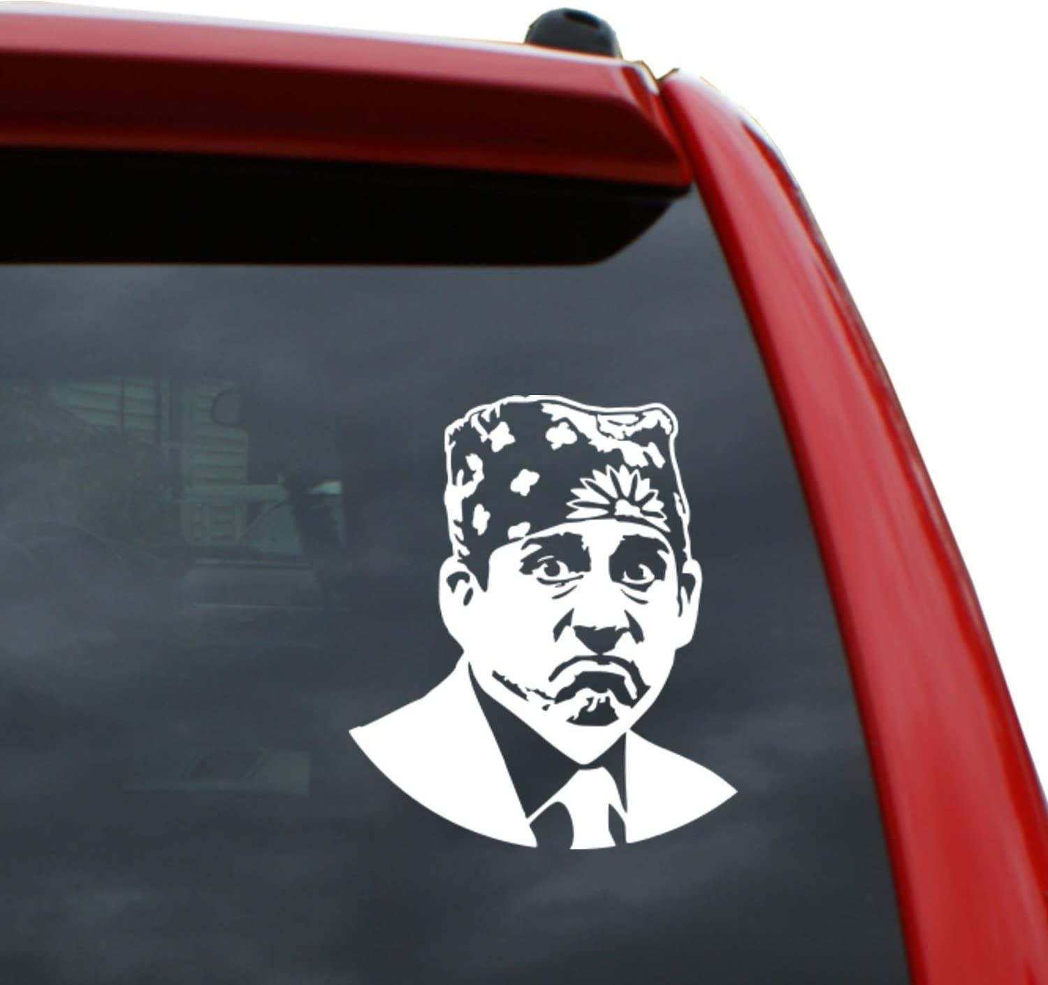 "Black Heart Decals & More Prison Mike Vinyl Decal Sticker | Color: White | 5"" Tall"