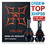 Image of HIKARI LED Headlight Bulbs Conversion Kit -9004(HB1),TOP CREE (XHP50+XM-L2) 9600lm 6K Cool White CREE,2 Yr Warranty