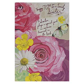 Hallmark 70th birthday card for sister with thanks medium hallmark 70th birthday card for sister with thanks medium bookmarktalkfo Image collections