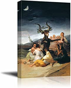 """wall26 The Sabbath of Witches by Francisco Goya - Canvas Print Wall Art Famous Painting Reproduction - 24"""" x 36"""""""