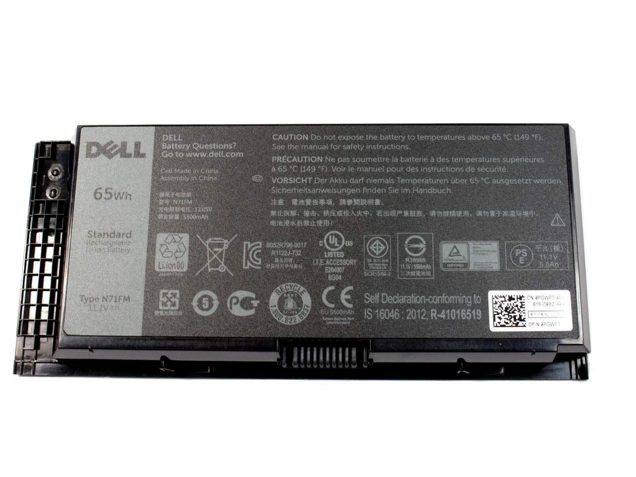 Dell OEM Genuine Battery 6R1V8 6 Cell 65 WHr 5500 Precision M4800 M6800 by Dell