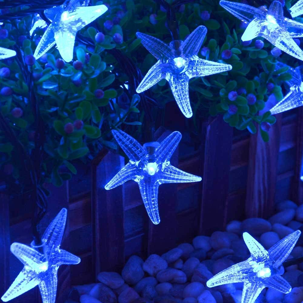 LUCKLED Solar Powered Starfish String Lights