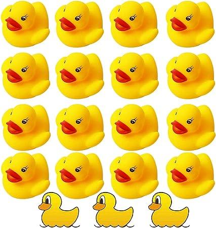 Baby Shower Time Festa di Compleanno favori Anatra Madre Che trasporta 3 anatroccoli Giocattolo Bagnetto Bambino SIPLIV 4 Pezzi Un Anatra di Gomma Set