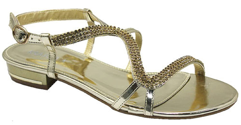 Chic feet diamante flat low heel prom evening wedding sandals chic feet diamante flat low heel prom evening wedding sandals amazon shoes bags junglespirit Images