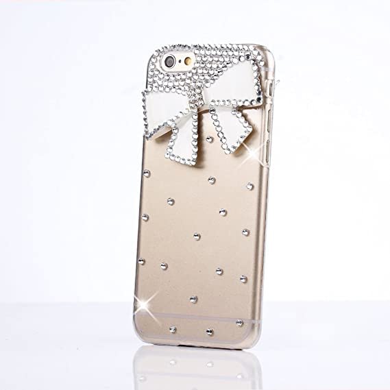 separation shoes e3754 1c78e iPod Touch (6th Generation) Case, Sense-TE Luxurious Crystal 3D Handmade  Sparkle Glitter Diamond Rhinestone Clear Cover with Retro Bowknot Anti Dust  ...