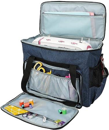 Estuche de transporte para máquina de coser Bolso de mano impermeable con bolsillos de almacenamiento Bolso con cremallera portátil para la mayoría de las máquinas de coser y accesorios estándar: Amazon.es: Hogar