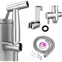 Bidet Sprayer for Toilet, Handheld Cloth Diaper Sprayer, Bathroom Jet Sprayer Kit Spray Attachment with Hose, Stainless…