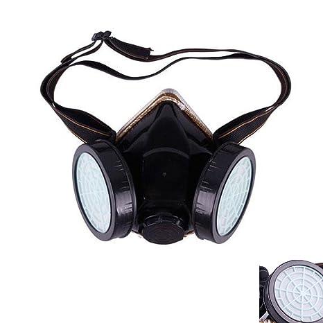 Antipolvo Spray químico máscara de pintura Gas Industrial respirador de doble cartucho filtro con carbón activo
