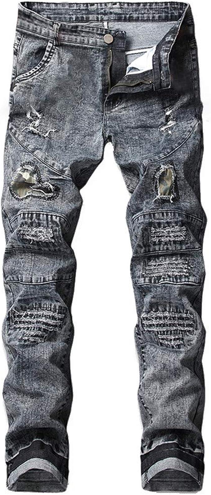 Amazon.com: Pantalones vaqueros para hombre, estilo ...
