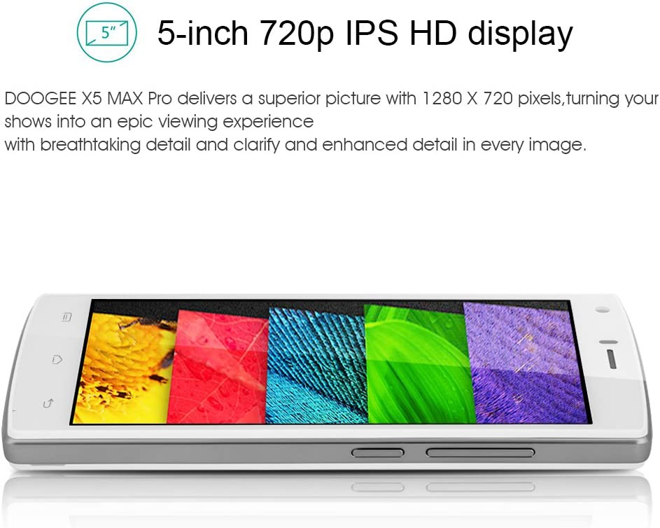 Doogee X5 Max Pro - Smartphone Móvil Libre 4G Android 6.0 (5.0\