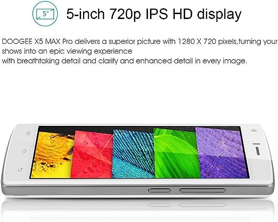 Doogee X5 Max Pro - Smartphone Móvil Libre 4G Android 6.0 (5.0 ...