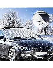 Frontscheibenabdeckung, phixilin Auto Scheibenabdeckung Schneeschutz Windschutzscheibe Abdeckung Faltbare Abnehmbare Auto Abdeckung perfekte gegen Schnee, EIS, Frost und UV-Strahlung