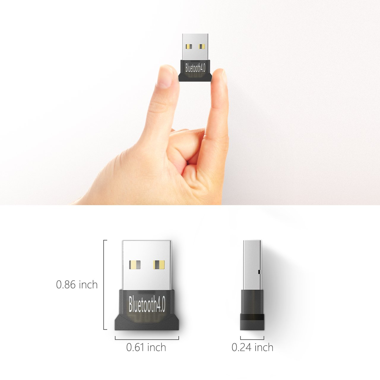 Mpow Bluetooth 4 0 USB Adapter Wireless Dongle for for Laptop PC