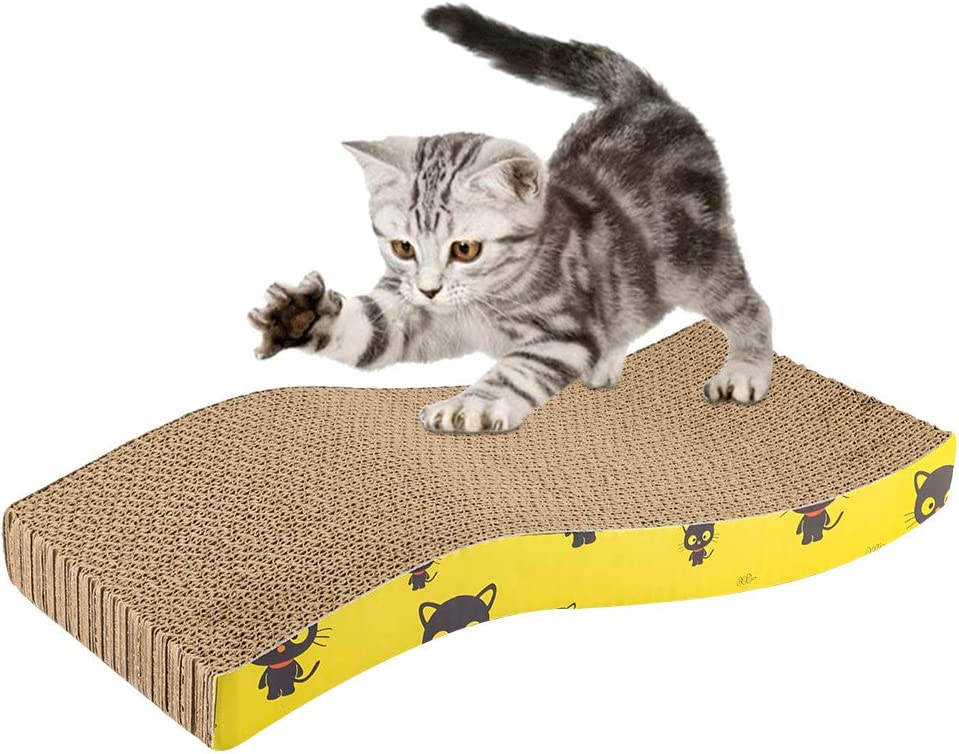 FREESOO Cat Scratch Posts Wall Corner Sofa Protector Large Scratching Board Pet Sisal Scratcher Pad for Bed Furniture