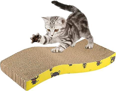 FREESOO Rascador para Gatos Tabla de Rascar para Gatos y Mascotas ...