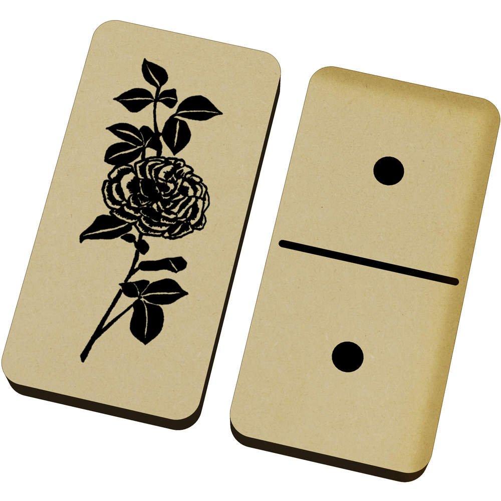 Azeeda 'Beautiful Rose' Domino Set & Box (DM00018210)