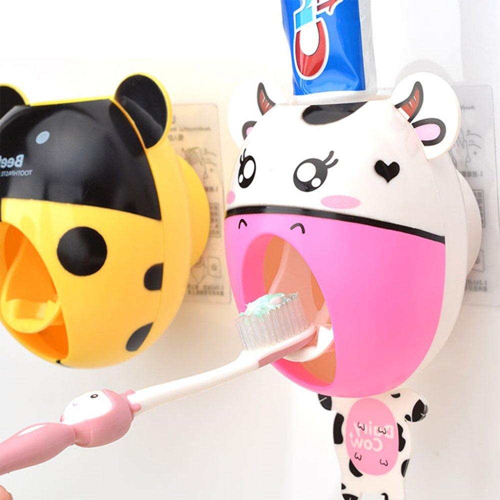 bebé niños creativos dibujos animados pasta de dientes automático dispensador, cepillo de dientes pasta de dientes dispensador de pasta de dientes ...