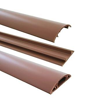1m Fussboden Kabelkanal 40mm Breit Selbstklebend Farbe Braun
