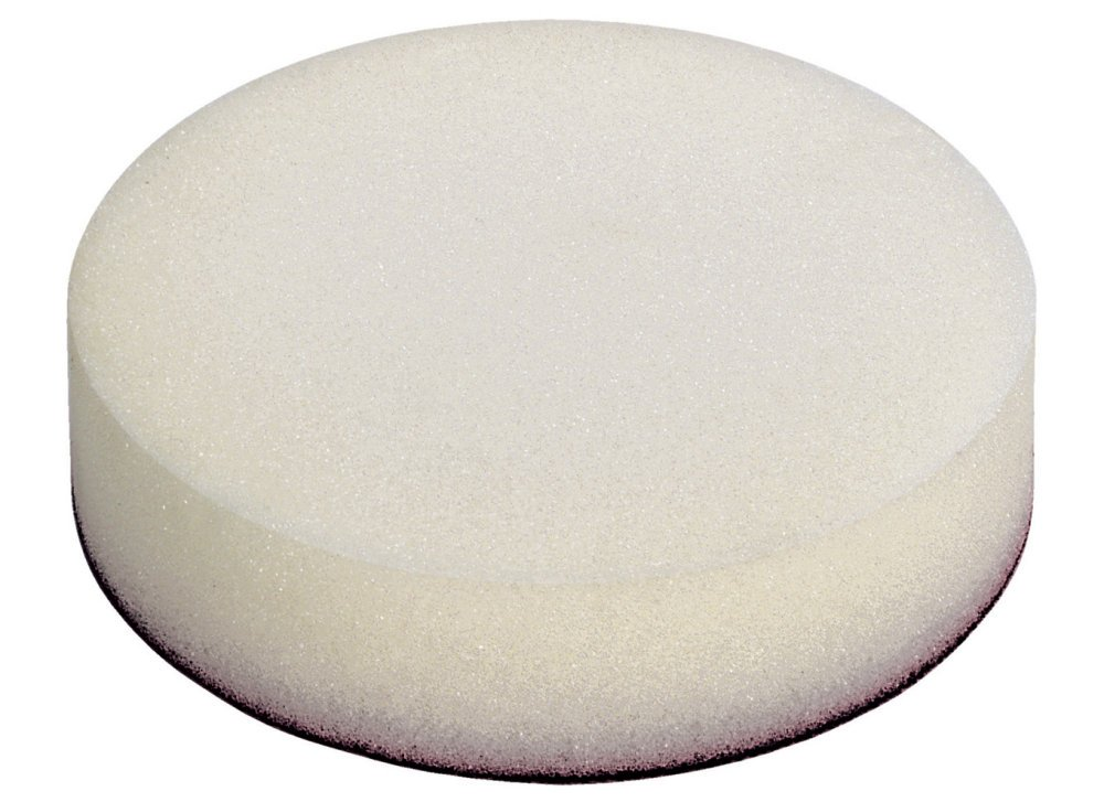Wolfcraft 2249000 2249000-1 Esponja de pulir con Fieltro Adhesivo, 125mm