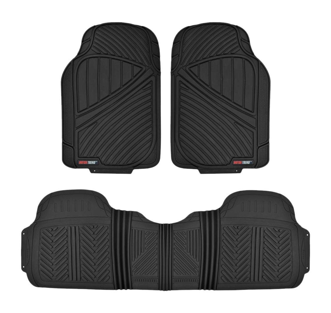 Motor Trend MT-773-BK FlexTough Baseline-Heavy Duty Rubber Floor Mats, Black
