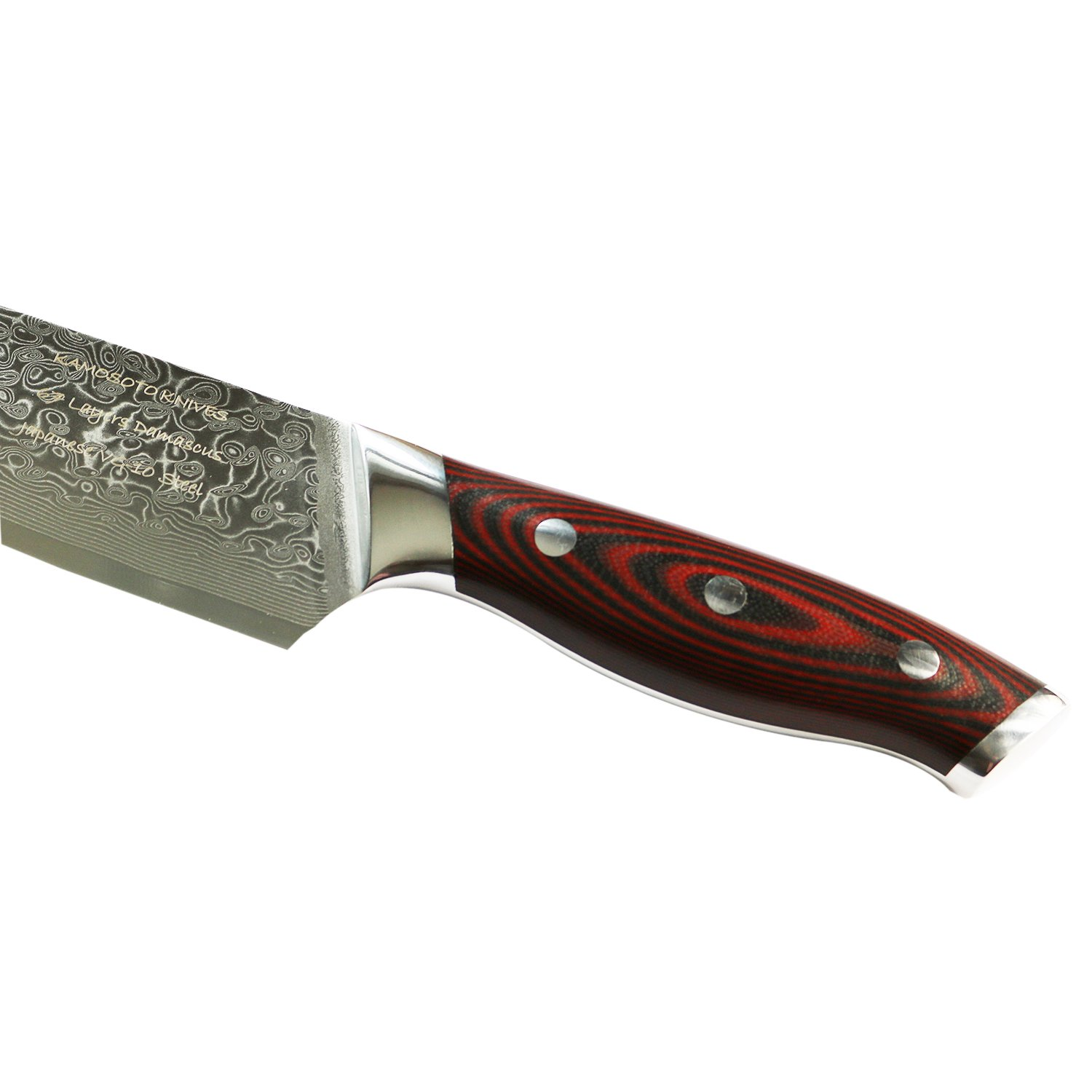 8 inch professional damascus chef knife by kamosoto with high