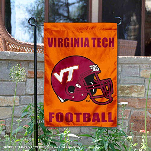 College Flags and Banners Co. VA Tech Hokies Football Helmet Garden Flag