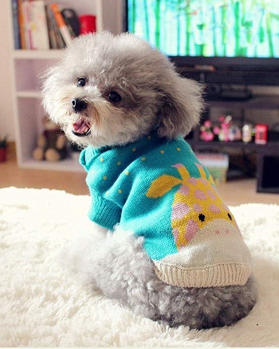 Elvoo Ropa para mascotas Ropa para perros Ropa para gatos, ropa de peluche Perros pequeños y medianos Cachorros Conejos pequeños Suéteres Ropa de algodón ...