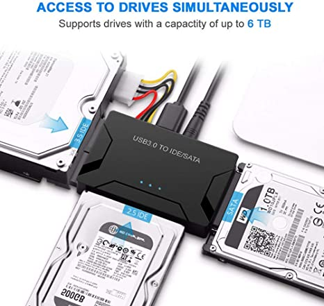 dragbolin SATA Combo USB IDE SATA Adapter Hard Disk SATA to USB3.0 ...
