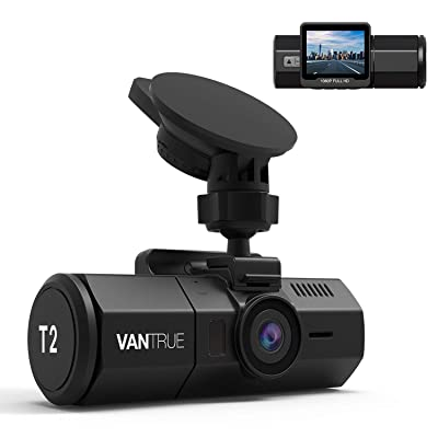 Vantrue T2 24/7 Recording Dash Cam Super Capacitor Microwave Parking Mode Car Camera 1920x1080P 2 Inch LCD 160 Degree Dashboard Camera, Sony Night Vision, OBD Cable, Heat Resistant, Support 256GB Max: Car Electronics