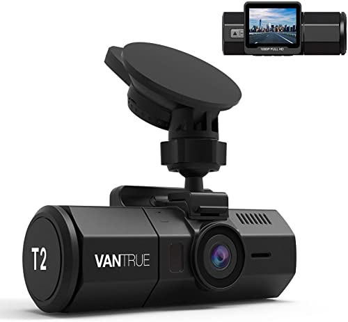 Vantrue T2 24 7 Recording Dash Cam Super Capacitor Microwave Parking Mode Car Camera 1920x1080P 2 Inch LCD 160 Degree Dashboard Camera, Sony Night Vision, OBD Cable, Heat Resistant, Support 256GB Max